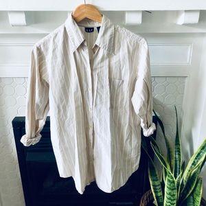 Vintage Gap Oversize Striped Button Down Shirt